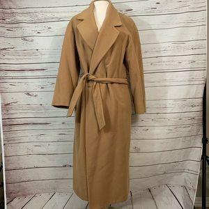 Vintage J. Crew wool cashmere belted pea coat s